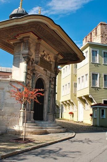 Turkey, Istanbul, Sogukçesme Sokagi with typical Ottoman houses of the late 19th century : Stock Photo