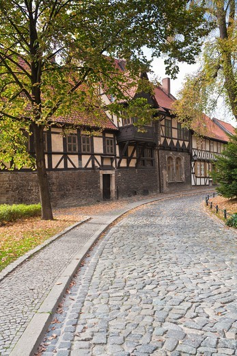 House Gadenstedt at the Oberpfarrkirchhof in Wernigerode, Saxony Anhalt, Germany, Europe : Stock Photo