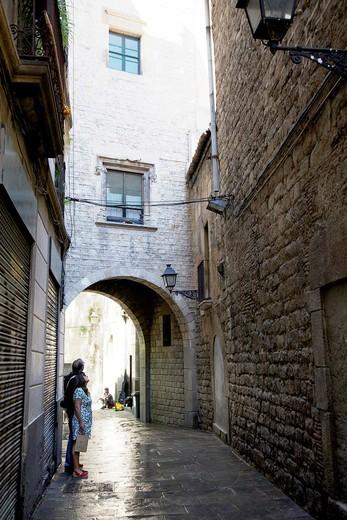 Close to Sant Felip Neri. Barcelona, Spain : Stock Photo