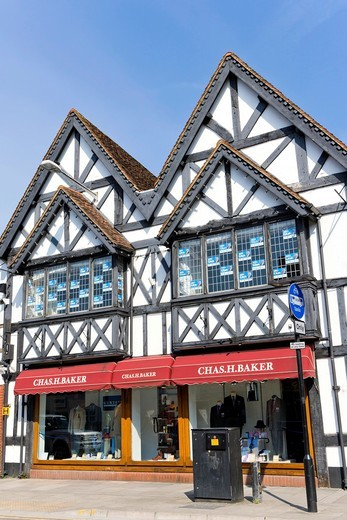 Stock Photo: 1566-626083 Chas H Baker Menswear, Milford Street, Salisbury, Wiltshire, England, UK.