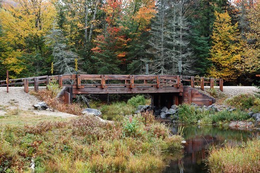 Jackman Brook during the autumn months in Woodstock, New Hampshire : Stock Photo