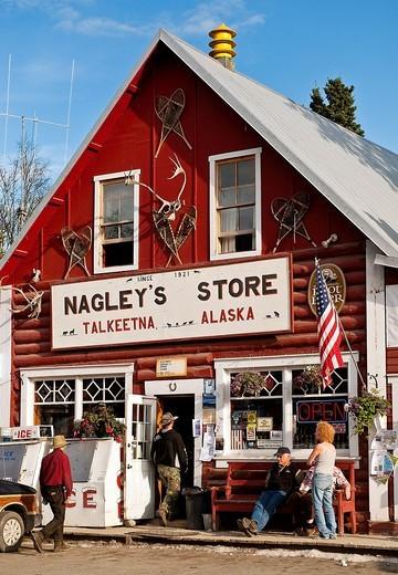 Stock Photo: 1566-628481 Nagley´s store, Talkeetna, Alaska, AK, USA