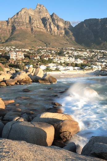 Stock Photo: 1566-628642 Camps Bay, Western Cape, South Africa