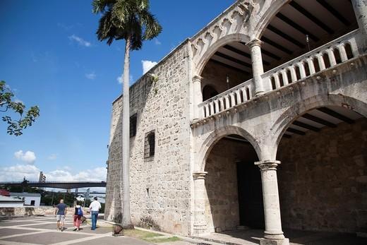 america, caribbean sea, hispaniola island, dominican republic, santo domingo town, virreinal palace of diego colon : Stock Photo