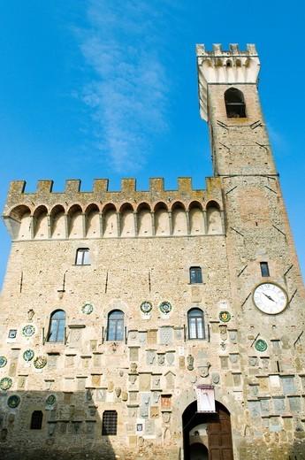 Palazzo dei Vicari, Scarperia, Firenze Province, Tuscany, Italy, Europe : Stock Photo
