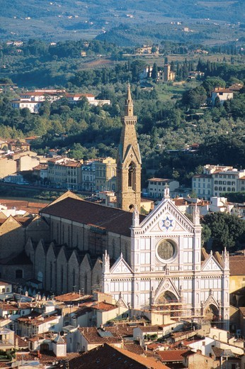Stock Photo: 1566-630577 Basilica di Santa Croce church in Florence, Italy