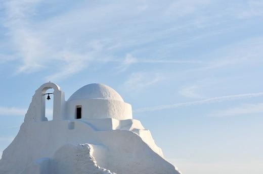 Stock Photo: 1566-631131 Mykonos  Greece  Panagia Paraportiani church