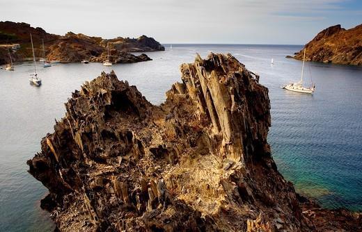 Stock Photo: 1566-631719 Culip cove  Cap de Creus Natural Park  Landscape that inspired some of Dalí´s paintings Costa Brava  Girona province  Catalonia  Spain