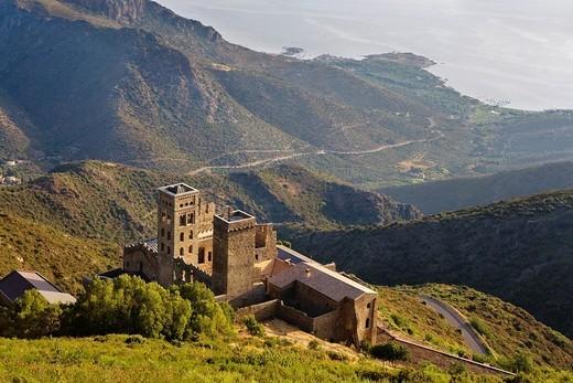 Sant Pere de Rodes benedictine monastery Costa Brava  Girona province  Catalonia  Spain : Stock Photo