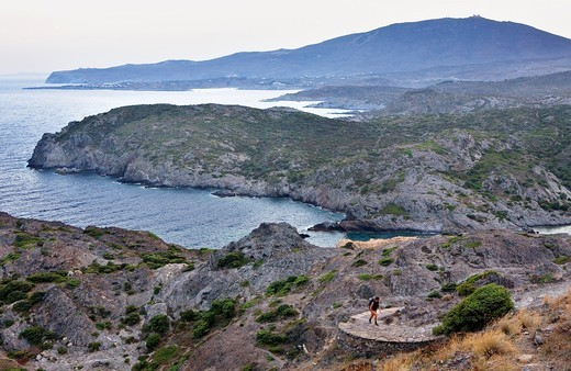 View from lighthouse of Cap de Creus  Cap de Creus Natural Park Costa Brava  Girona province  Catalonia  Spain : Stock Photo