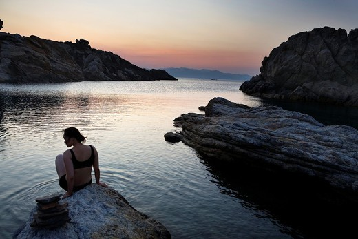 Culleró cove  Cap de Creus Natural Park  Landscape that inspired some of Dalí´s paintings Costa Brava  Girona province  Catalonia  Spain : Stock Photo