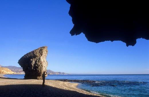 Stock Photo: 1566-631750 Playa de los Muertos Carboneras, Cabo de Gata-Nijar Natural Park  Biosphere Reserve, Almeria province, Andalucia, Spain