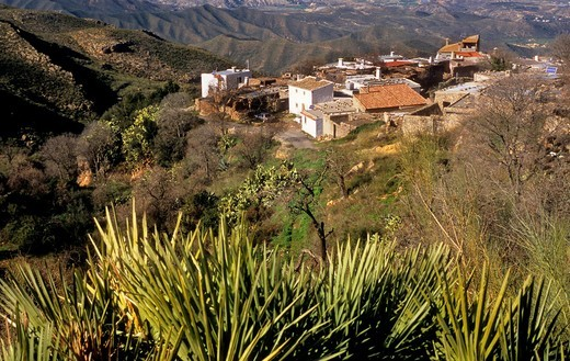 Hamlet of La Carrasca Sierra de Cabrera, Almeria province, Andalucia, Spain : Stock Photo