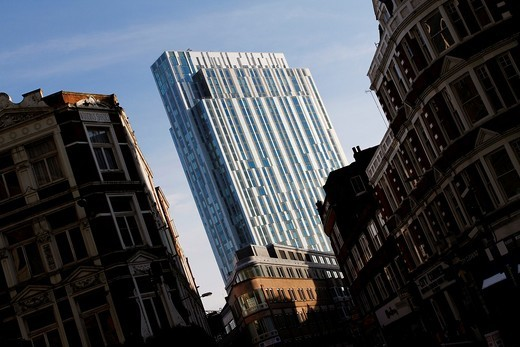 Nido Spitalfields - 100 Middlesex Street - student accommodation tower block, Aldgate, London, England : Stock Photo