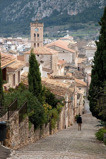 Pollença from the Steps of Calvari in Mallorca, Spain : Stock Photo