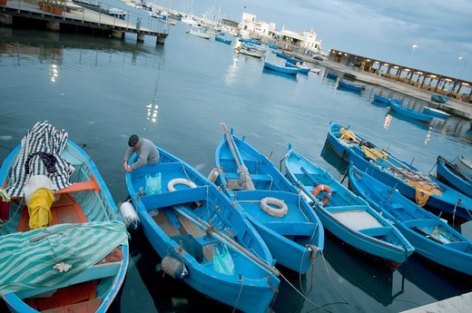 Italy, Bari, old fish port. : Stock Photo