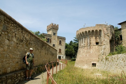 Walls, Colle Val d´Elsa, Siena, Tuscany, Italy : Stock Photo
