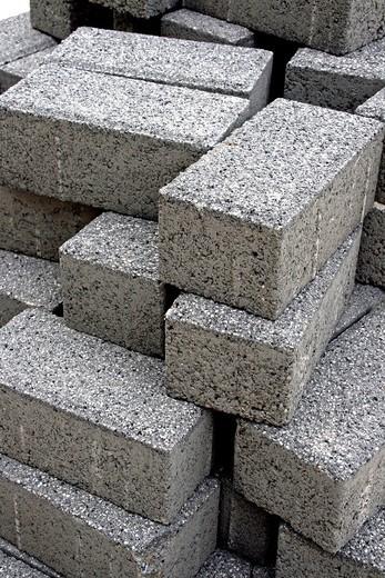 cobblestones, building materials. : Stock Photo