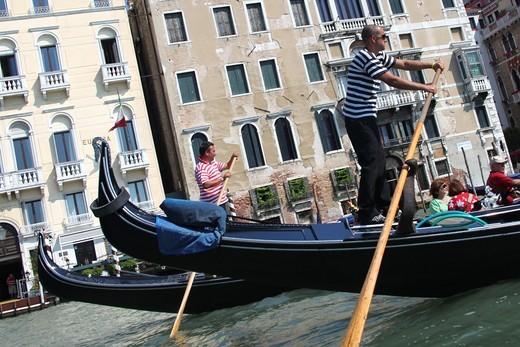 Stock Photo: 1566-636328 Gondolier, Venice, Veneto, Italy, Europe
