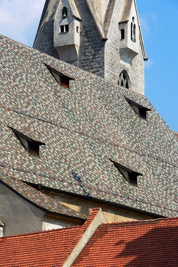 Stock Photo: 1566-636655 Rooftop of Bressanone Cathedral, Alto Adige, Italy