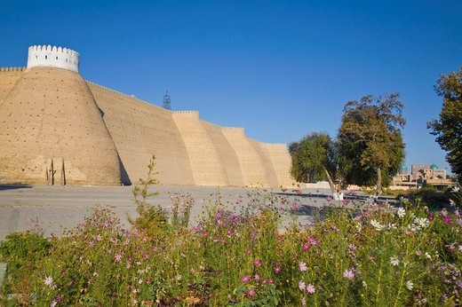 Stock Photo: 1566-637401 Ark fortress, Bukhara, Uzbekistan