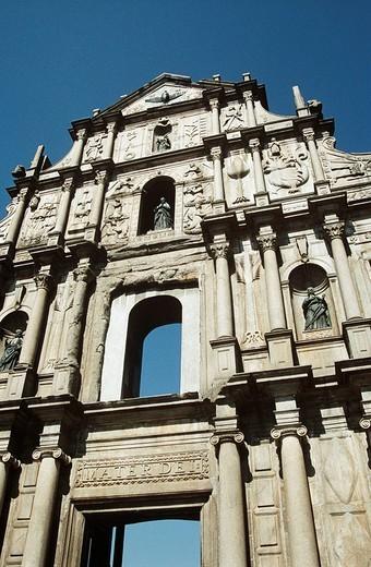 Saint Paul´s Church, also known as Sam Ba Sing Tzik, Macau, China : Stock Photo