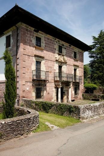 Jarola Palace, Elbete, Baztan Valley, Navarra Nafarroa, Spain España : Stock Photo