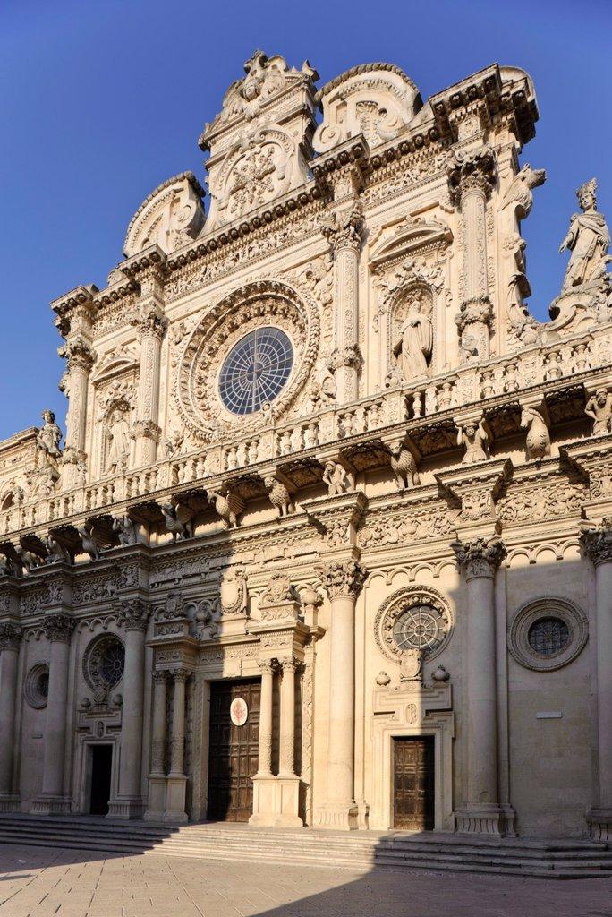 Stock Photo: 1566-641340 Basilica di Santa Croce Basilica of the Holy Cross, Lecce, Puglia, Italy