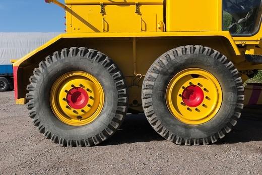 truck tyres : Stock Photo