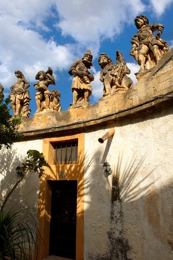 Stock Photo: 1566-642106 Garden of Baroque Villa Palagonia, Baghera Sicily