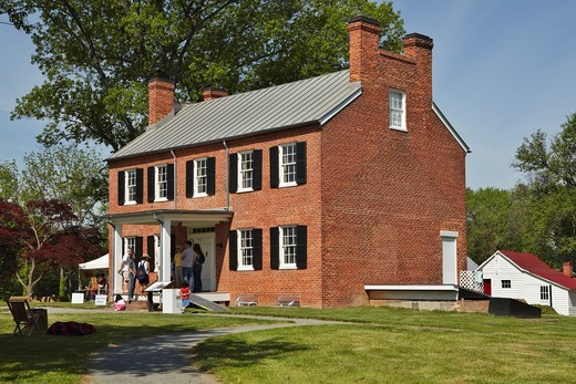Stock Photo: 1566-642655 The exterior of historic Blenheim, built 1855-1859, site of preserved American Civil War soldier graffiti