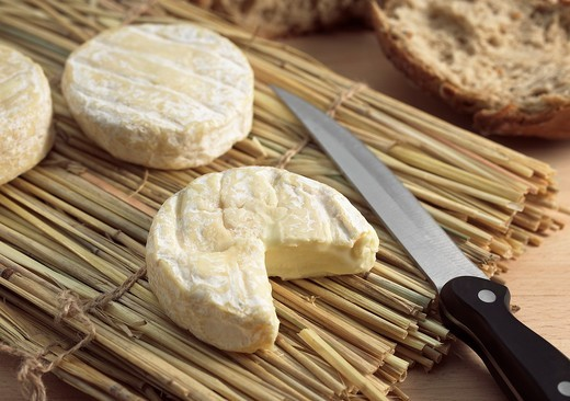 Stock Photo: 1566-643447 SAINT MARCELLIN, A FRENCH CHEESE MADE FROM COW´S MILK