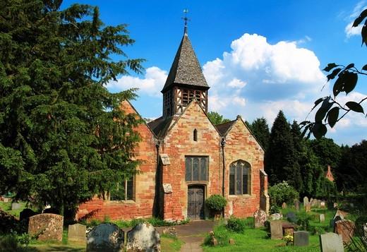 Stock Photo: 1566-643763 St Leonard´s Church, Ribbesford, Bewdley, Worcestershire, England
