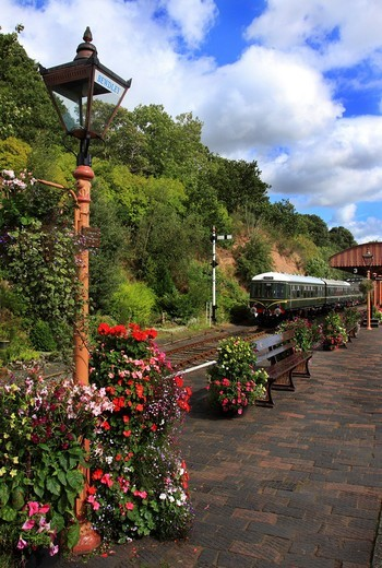 Stock Photo: 1566-643837 Severn Valley Railway Station at Bewdley, Worcestershire, England