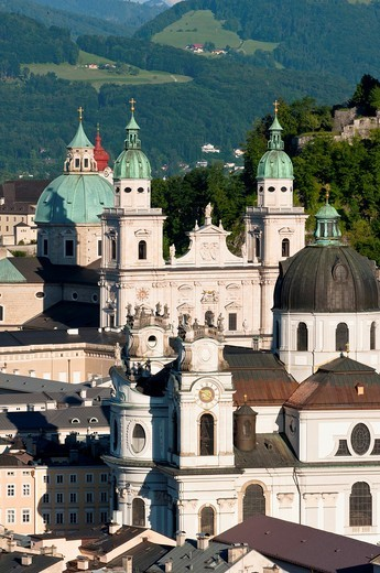 Stock Photo: 1566-643985 Salzburg church spires, Austria