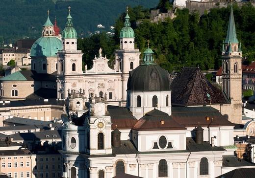 Stock Photo: 1566-644016 Salzburg city skyline, Austria