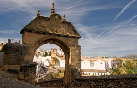 Felipe´s Arch, Ronda, Western part of the Province of Malaga, Andalucía, Spain : Stock Photo