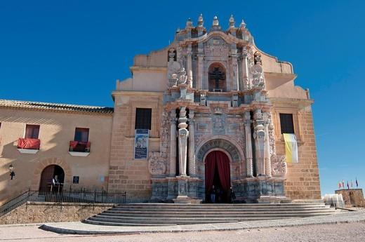 Basilica-Santuario de la Santisma y Vera Cruz within the castle walls at Caravaca de la Cruz, Murcia : Stock Photo
