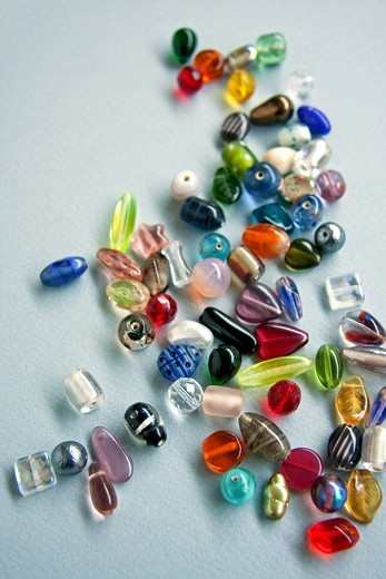 Various Glass Beads : Stock Photo