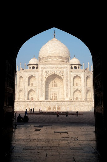 The Taj Mahal in Agra,India : Stock Photo