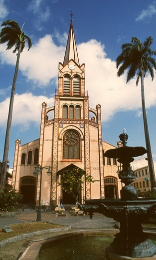 Stock Photo: 1566-645029 Caribbean, Martinique France, Fort-de-France, St-Louis Cathedral,