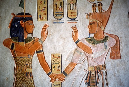 Egypt, Luxor, Thebes, Valley of the Queens, Tomb of Queen Titi, : Stock Photo