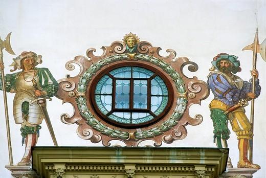 Stock Photo: 1566-645418 Romania, Sinaia, Peles Castle, wall painting,