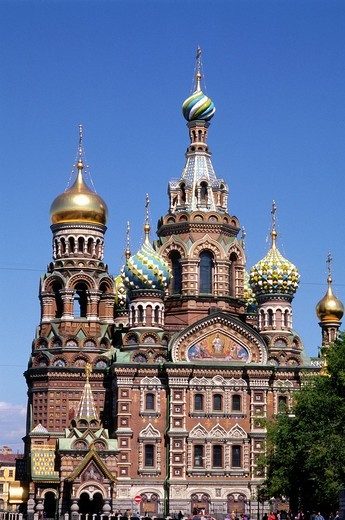 Russia, St Petersburg, Resurrection Church, : Stock Photo