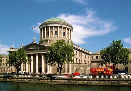 Ireland, Dublin, Four Courts, : Stock Photo