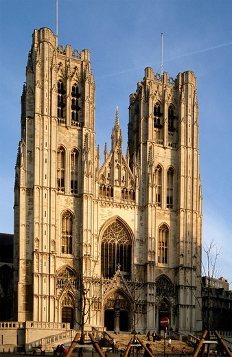 Stock Photo: 1566-645633 Belgium, Bruxelles, St Michel Cathedral,