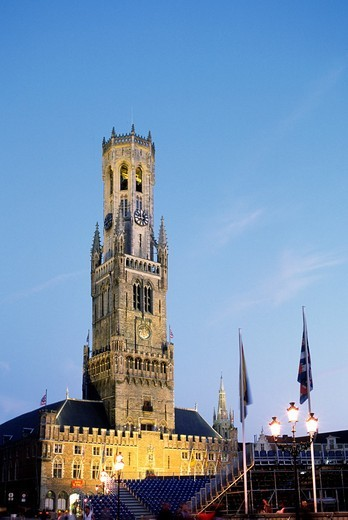 Belgium, Bruges, Belfort, Belfry, : Stock Photo