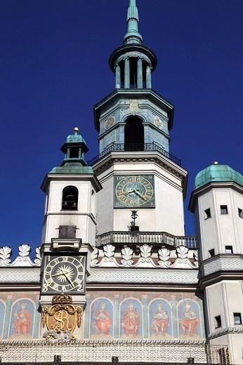 Stock Photo: 1566-646173 Poland, Poznan, Old Market Square, Town Hall