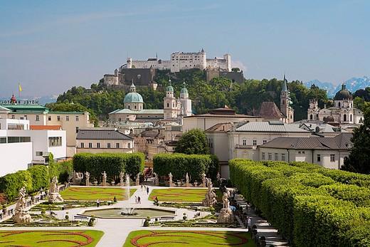 Stock Photo: 1566-647362 Mirabell Gardens.Saltzburg. Austria