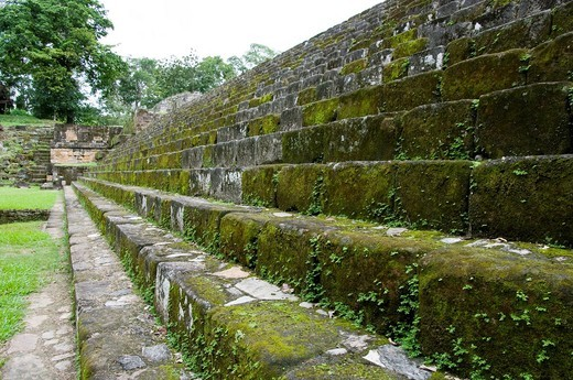 Guatemala. Quiriguá Archaeological Zone. The Acropolis. : Stock Photo